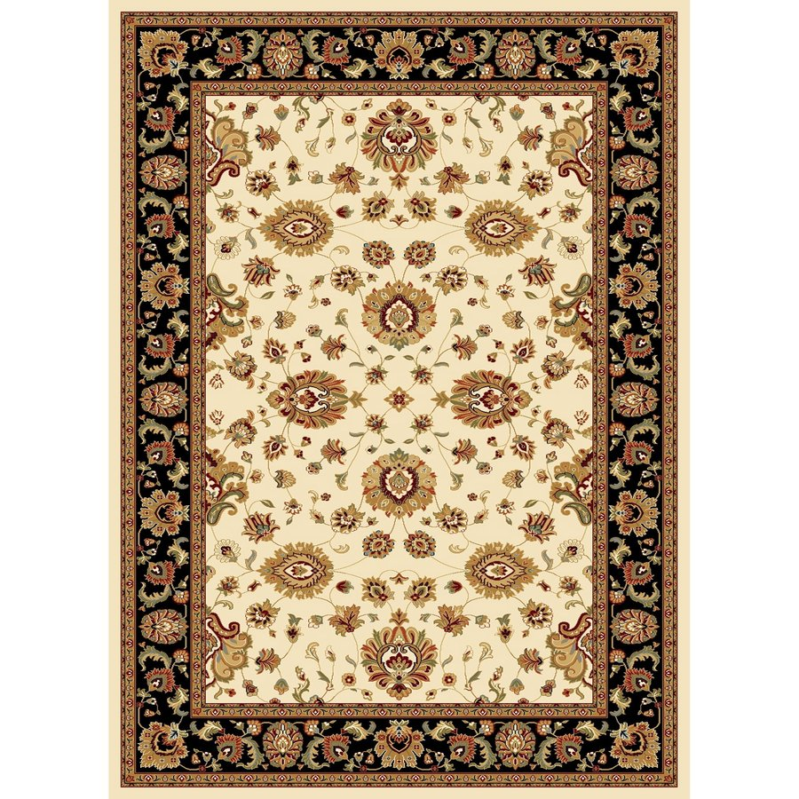Concord Global Cyrus Ivory Rectangular Indoor Woven Oriental Area Rug (Common: 9 x 12; Actual: 105-in W x 148-in L x 8.75-ft Dia)