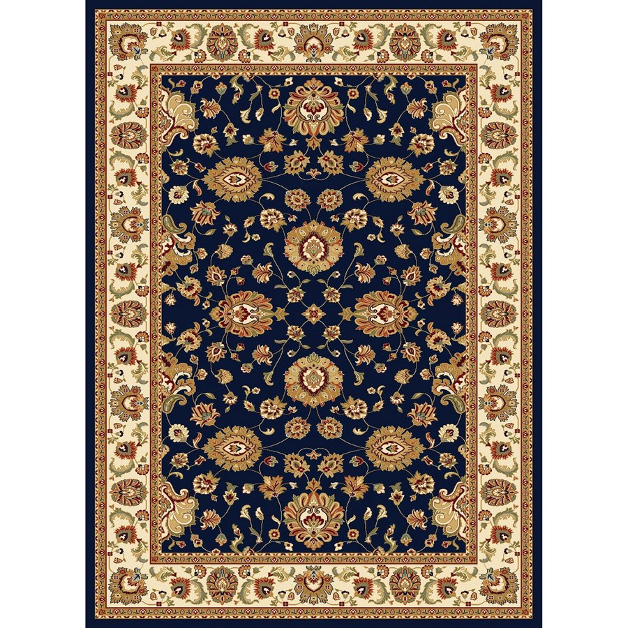 Concord Global Cyrus Navy Rectangular Indoor Woven Oriental Area Rug (Common: 7 x 10; Actual: 6.58-ft W x 9.5-ft L x 6.58-ft Dia)