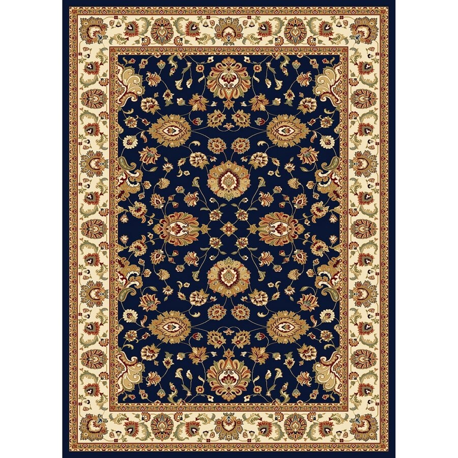 Concord Global Cyrus Navy Rectangular Indoor Woven Oriental Area Rug (Common: 8 x 11; Actual: 7.83-ft W x 10.83-ft L x 7.83-ft Dia)