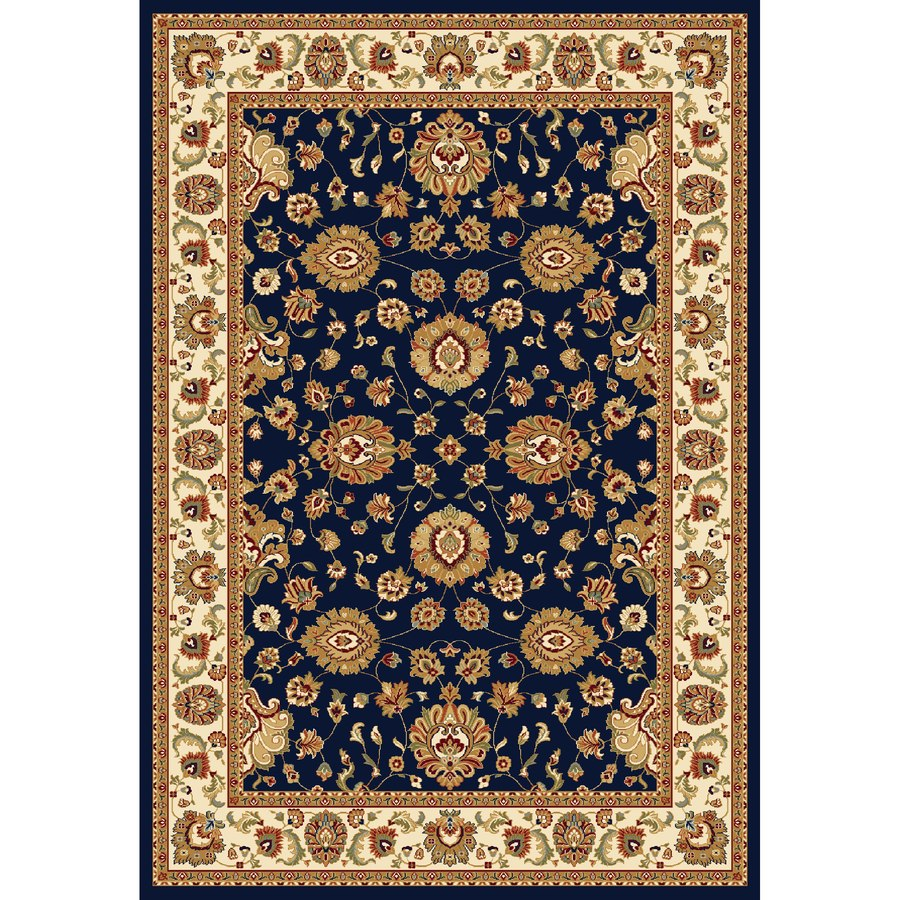 Concord Global Cyrus Navy Rectangular Indoor Woven Oriental Area Rug (Common: 9 x 12; Actual: 8.75-ft W x 12.33-ft L x 8.75-ft Dia)