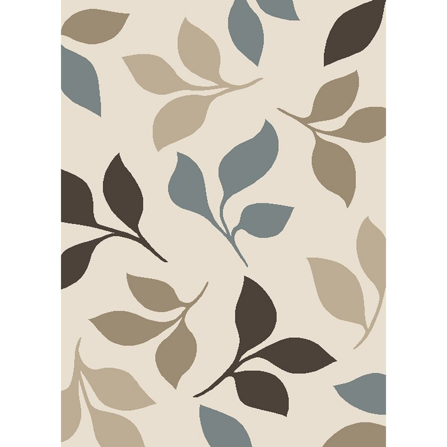 Concord Global Manhattan Ivory Rectangular Indoor Woven Throw Rug (Common: 3 x 5; Actual: 3.25-ft W x 4.58-ft L x 3.25-ft Dia)