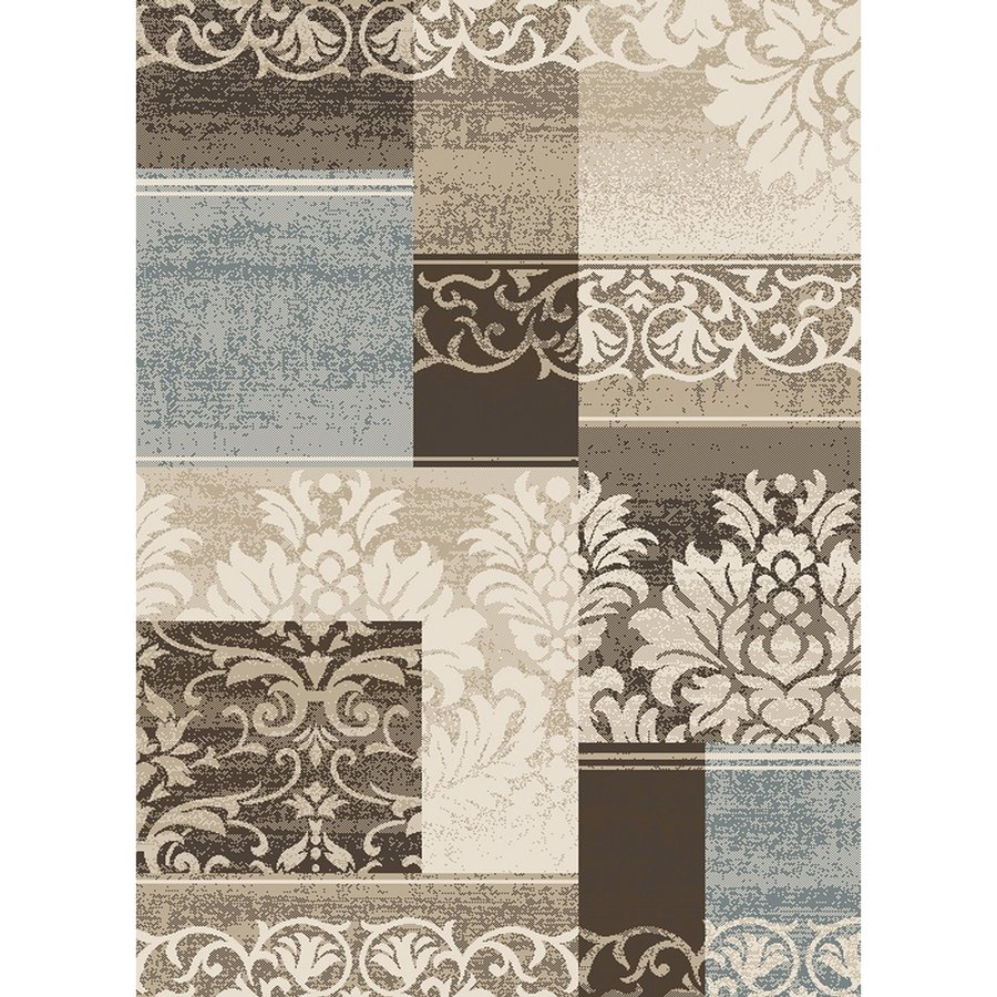 Concord Global Manhattan Ivory Rectangular Indoor Machine-made Area Rug (Common: 5 x 7; Actual: 5.25-ft W x 7.25-ft L x 5.25-ft Dia)