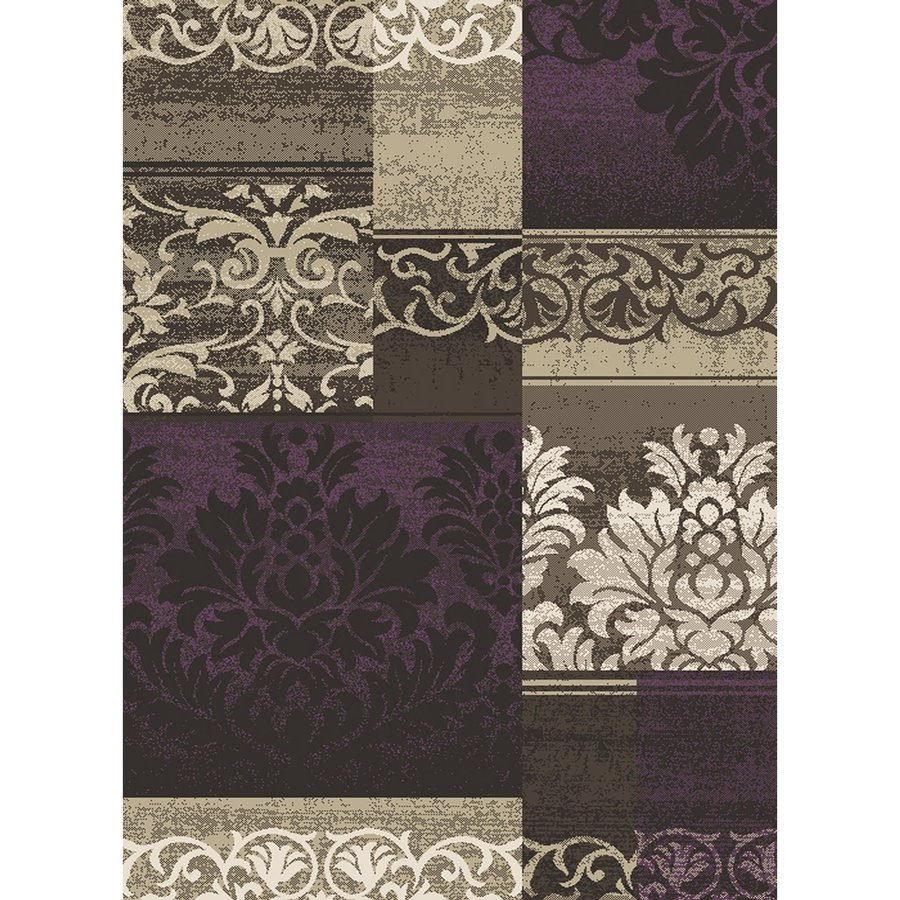 Concord Global Manhattan Purple Rectangular Indoor Woven Area Rug (Common: 7 x 10; Actual: 6.58-ft W x 9.5-ft L x 6.58-ft Dia)
