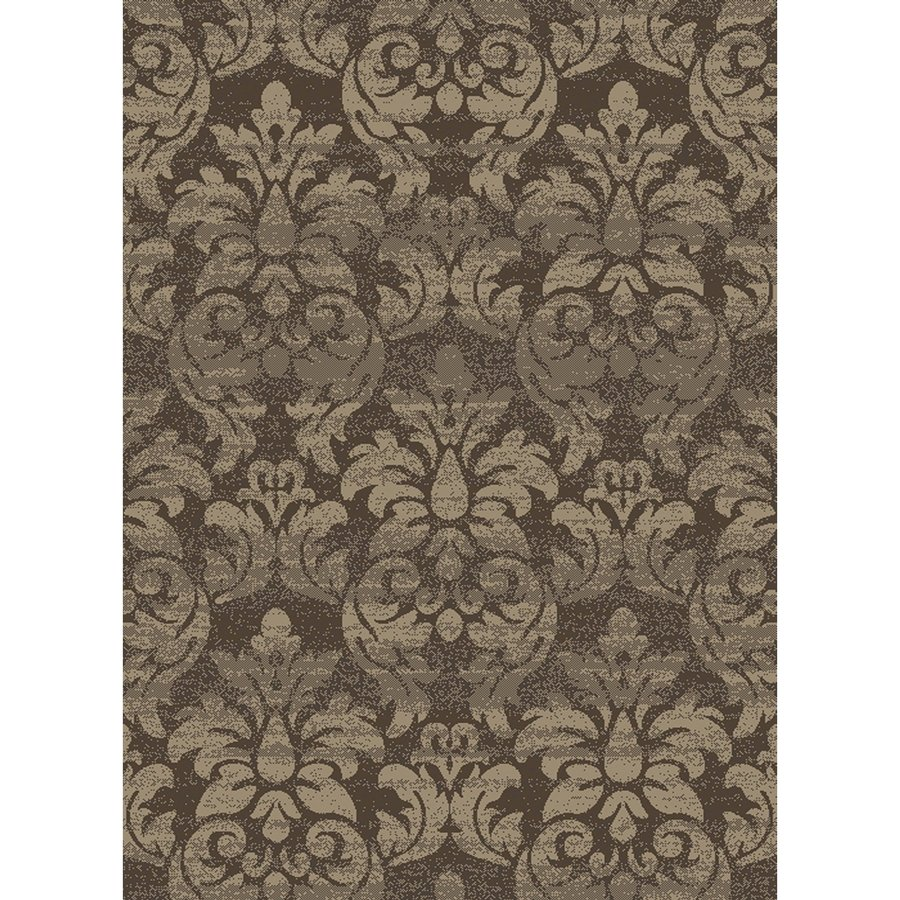 Concord Global Manhattan Brown Rectangular Indoor Woven Area Rug (Common: 5 x 7; Actual: 5.25-ft W x 7.25-ft L x 5.25-ft Dia)