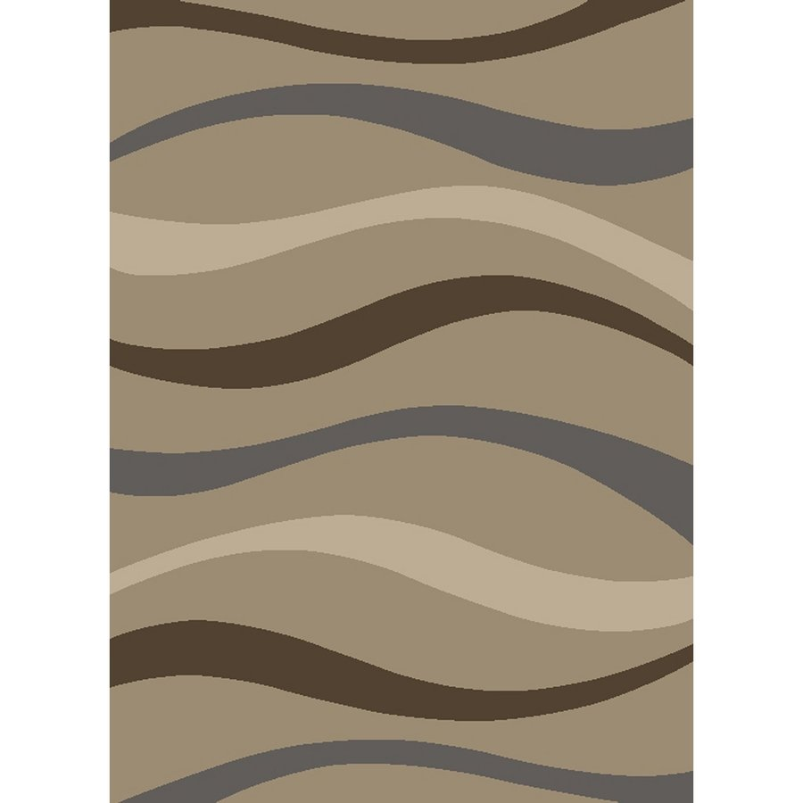 Concord Global Manhattan Beige Rectangular Indoor Woven Area Rug (Common: 7 x 10; Actual: 6.58-ft W x 9.5-ft L x 6.58-ft Dia)