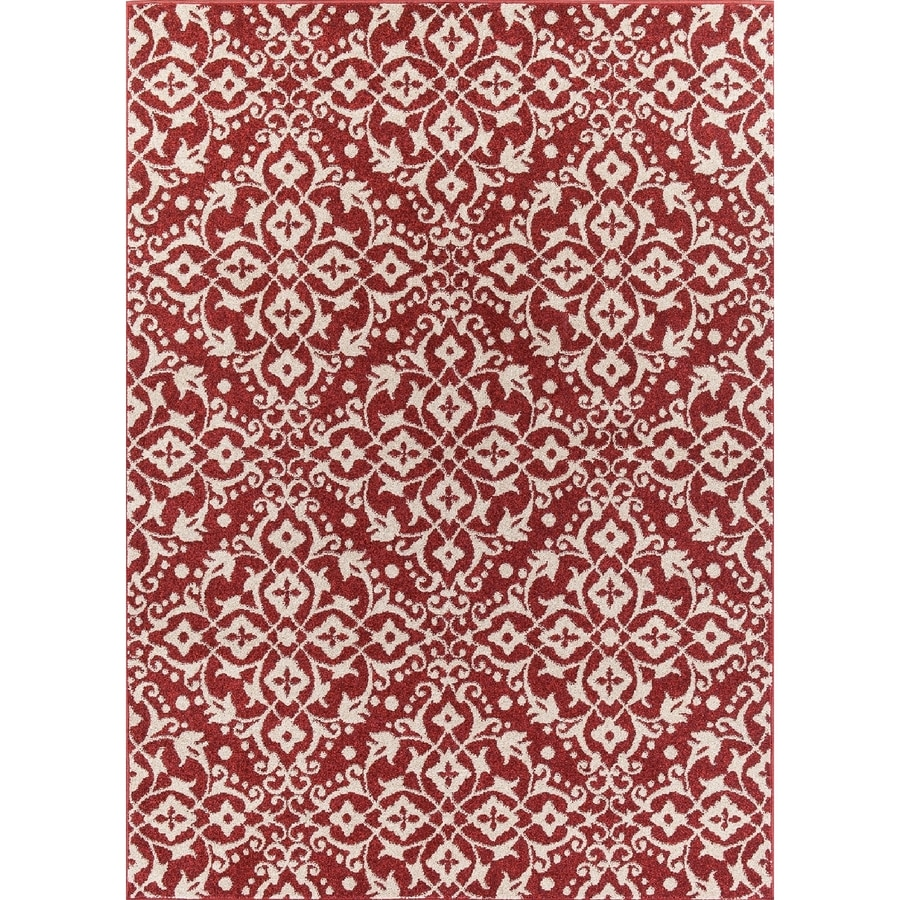 Concord Global Manhattan Red Rectangular Indoor Woven Throw Rug (Common: 3 x 5; Actual: 39-in W x 55-in L x 3.25-ft Dia)