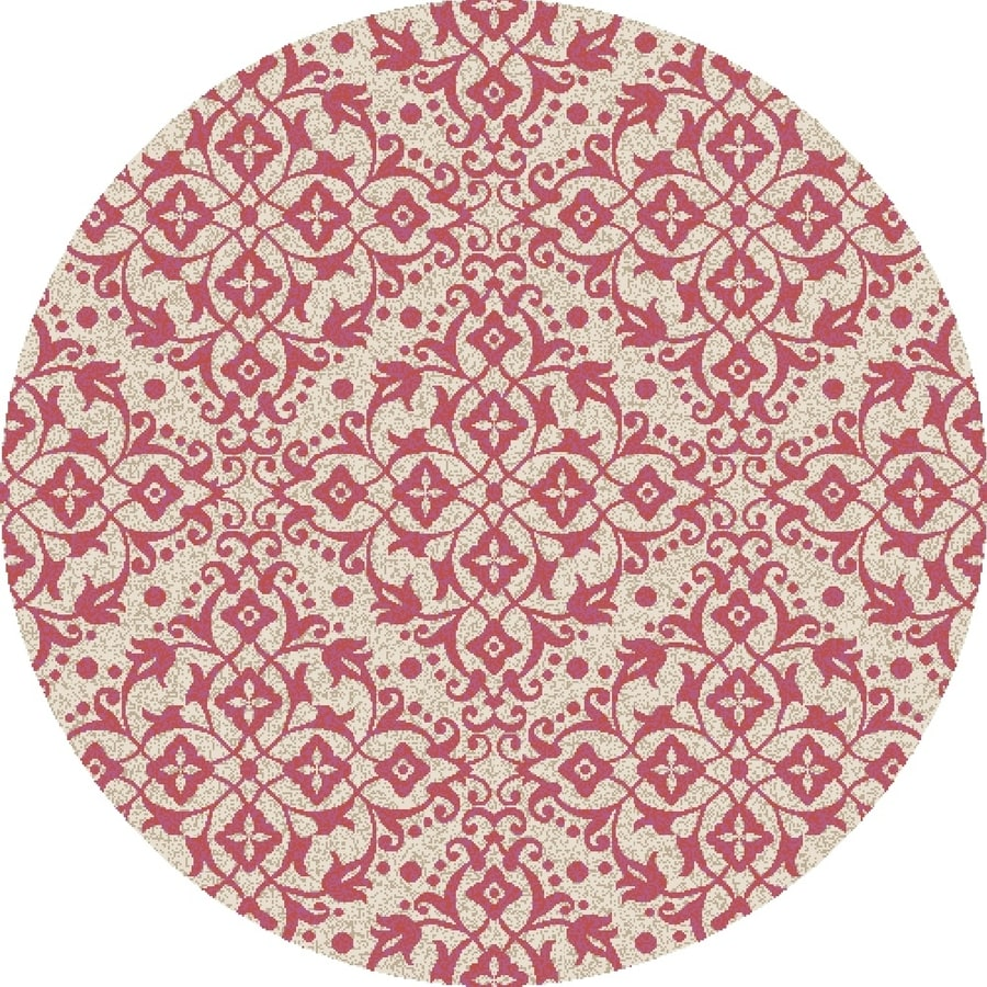 Concord Global Manhattan Red Round Indoor Woven Area Rug (Common: 8 x 8; Actual: 7.83-ft W x 7.83-ft L x 7.83-ft Dia)