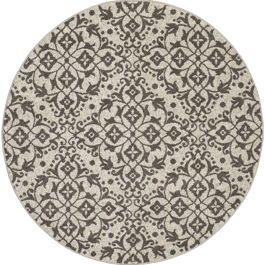 Concord Global Manhattan Ivory Round Indoor Woven Area Rug (Common: 5 x 5; Actual: 63-in W x 63-in L x 5.25-ft Dia)
