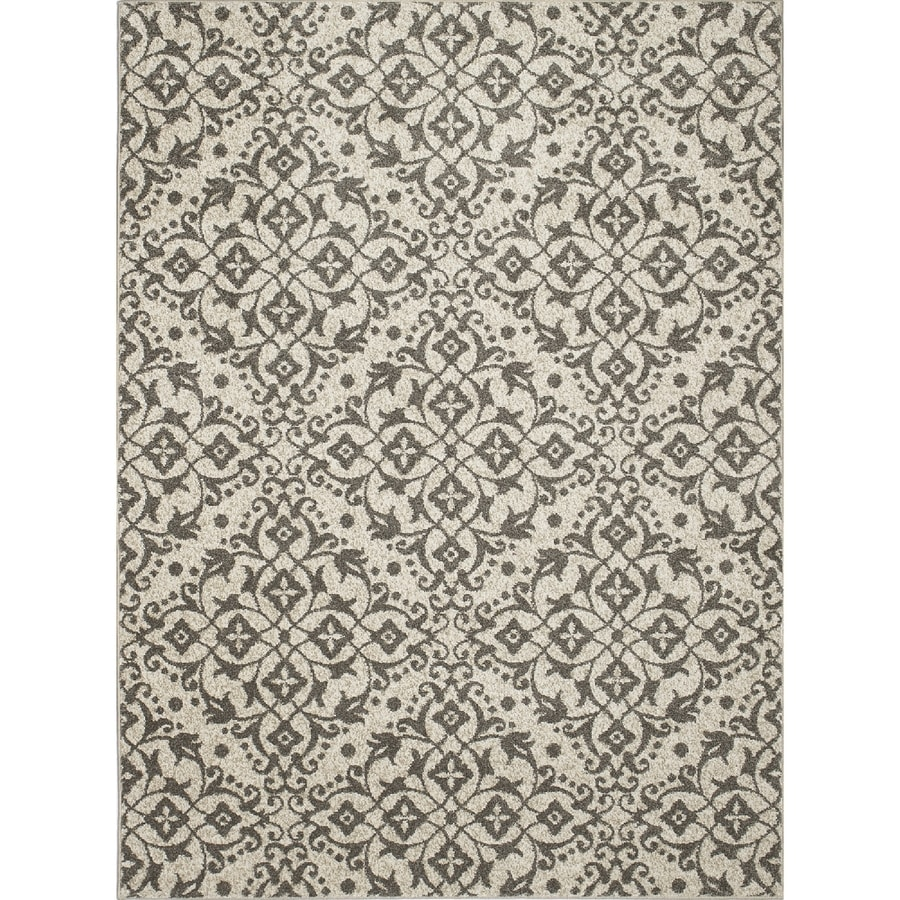 Concord Global Manhattan Ivory Rectangular Indoor Woven Area Rug (Common: 8 x 11; Actual: 7.83-ft W x 10.5-ft L x 7.83-ft Dia)