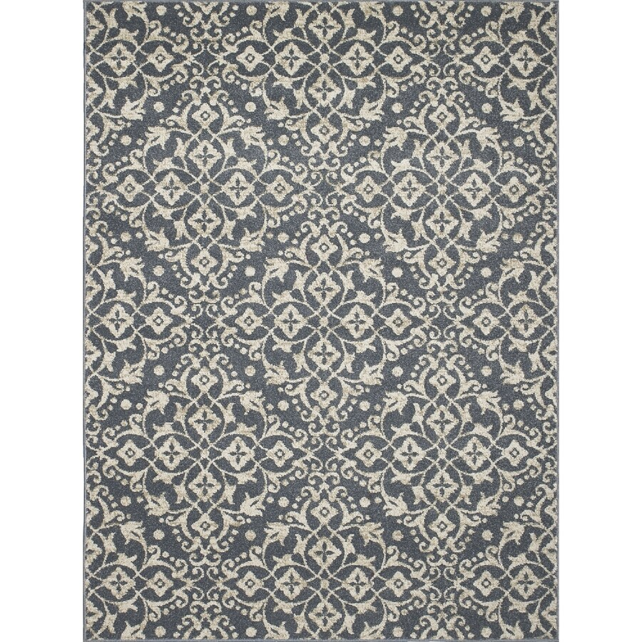 Concord Global Manhattan Blue Rectangular Indoor Woven Throw Rug (Common: 3 x 4; Actual: 2.58-ft W x 4.08-ft L x 2.58-ft Dia)