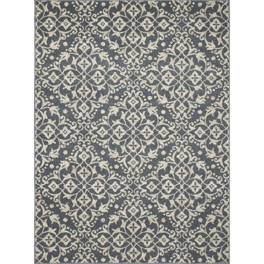 Concord Global Manhattan Blue Rectangular Indoor Woven Throw Rug (Common: 3 x 5; Actual: 3.25-ft W x 4.58-ft L x 3.25-ft Dia)