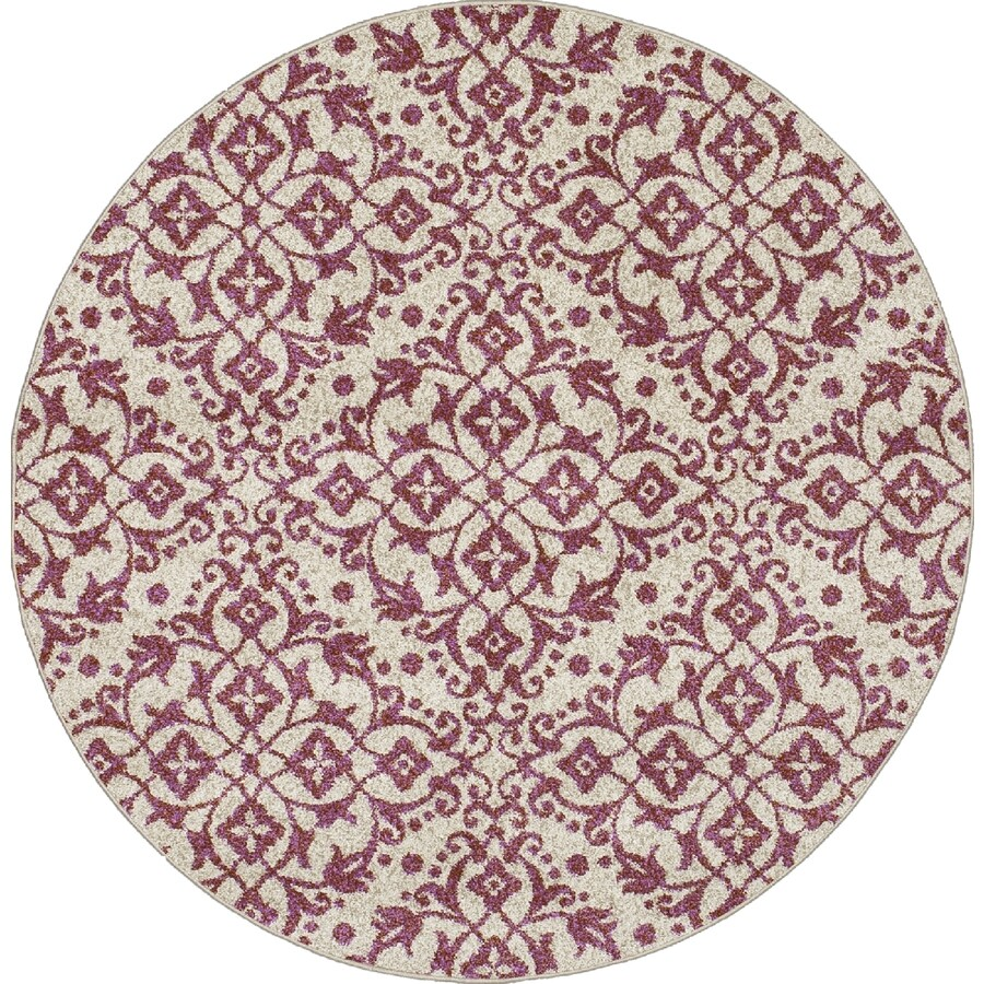 Concord Global Manhattan Coral Round Indoor Woven Area Rug (Common: 5 x 5; Actual: 5.25-ft W x 5.25-ft L x 5.25-ft Dia)