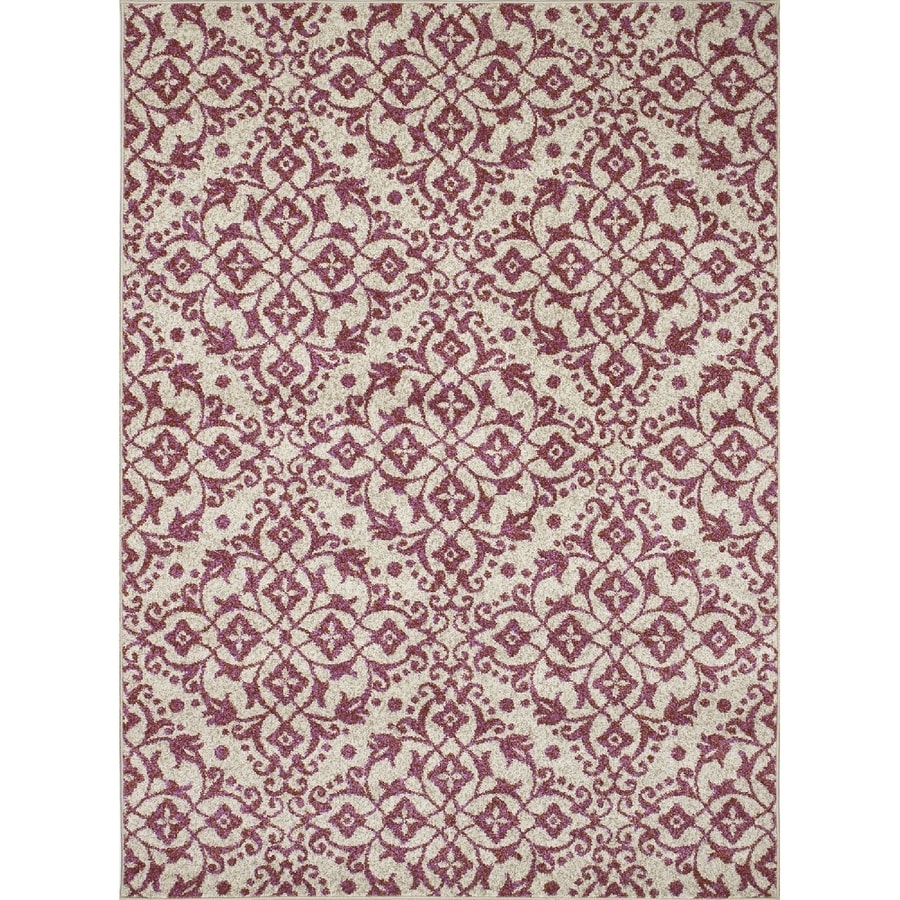 Concord Global Manhattan Coral Rectangular Indoor Woven Throw Rug (Common: 3 x 5; Actual: 3.25-ft W x 4.58-ft L x 3.25-ft Dia)
