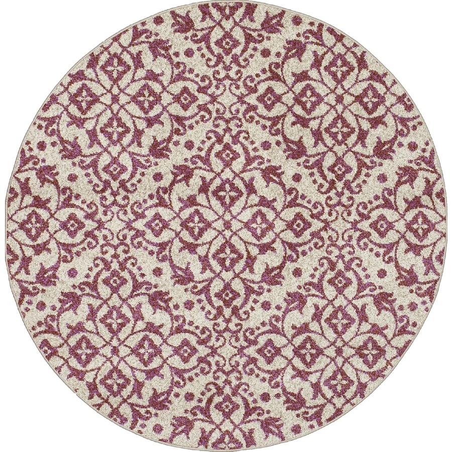 Concord Global Manhattan Coral Round Indoor Woven Area Rug (Common: 8 x 8; Actual: 7.83-ft W x 7.83-ft L x 7.83-ft Dia)
