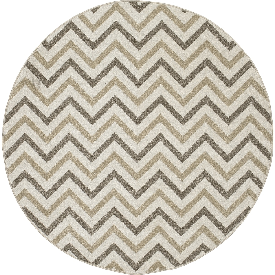 Concord Global Manhattan Ivory Round Indoor Woven Area Rug (Common: 5 x 5; Actual: 5.25-ft W x 5.25-ft L x 5.25-ft Dia)