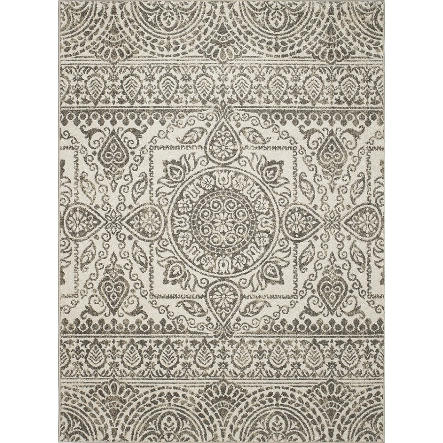 Concord Global Manhattan Gray Indoor Throw Rug (Common: 3 x 4; Actual: 2.58-ft W x 4.08-ft L x 2.58-ft dia)