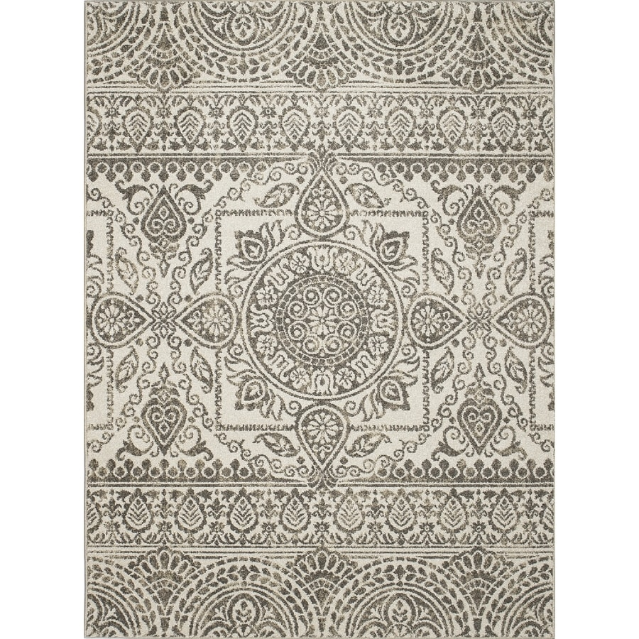 Concord Global Manhattan Gray Rectangular Indoor Woven Area Rug (Common: 8 x 11; Actual: 7.83-ft W x 10.5-ft L x 7.83-ft Dia)