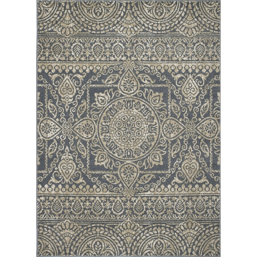 Concord Global Manhattan Blue Rectangular Indoor Woven Area Rug (Common: 5 x 7; Actual: 5.25-ft W x 7.25-ft L x 5.25-ft Dia)