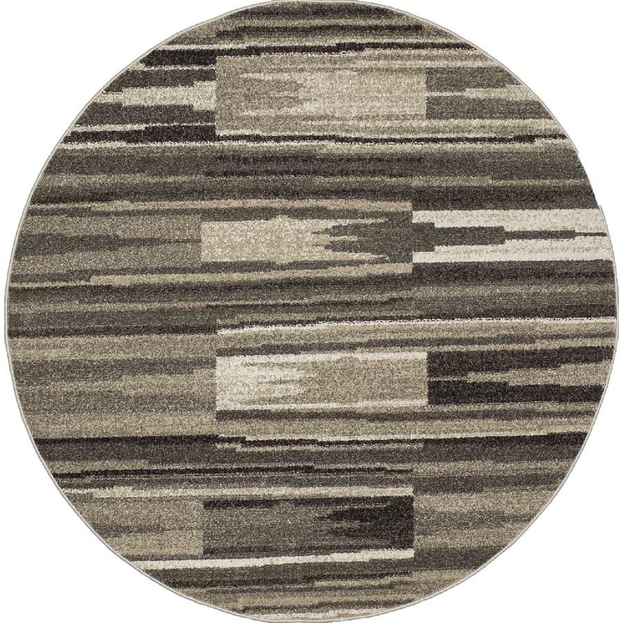 Concord Global Manhattan Gray Round Indoor Woven Area Rug (Common: 5 x 5; Actual: 5.25-ft W x 5.25-ft L x 5.25-ft Dia)
