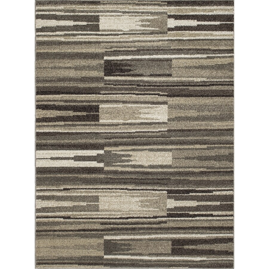 Concord Global Manhattan Gray Rectangular Indoor Woven Throw Rug (Common: 3 x 4; Actual: 31-in W x 49-in L x 2.58-ft Dia)