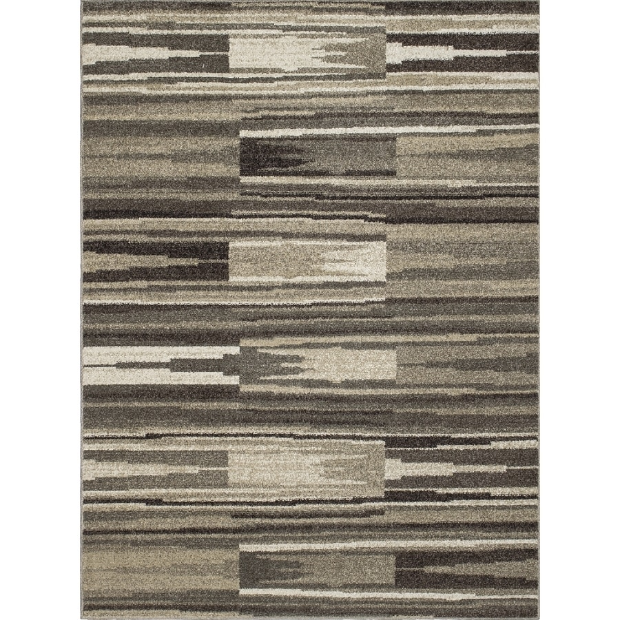 Concord Global Manhattan Gray Rectangular Indoor Woven Area Rug (Common: 3 x 5; Actual: 39-in W x 55-in L x 3.25-ft Dia)