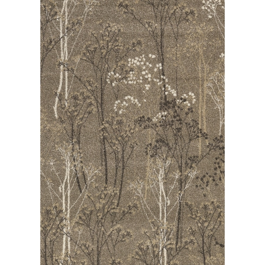 Casa Taupe Rectangular Indoor Woven Nature Area Rug (Common: 4 x 6; Actual: 47-in W x 67-in L x 3.92-ft Dia)