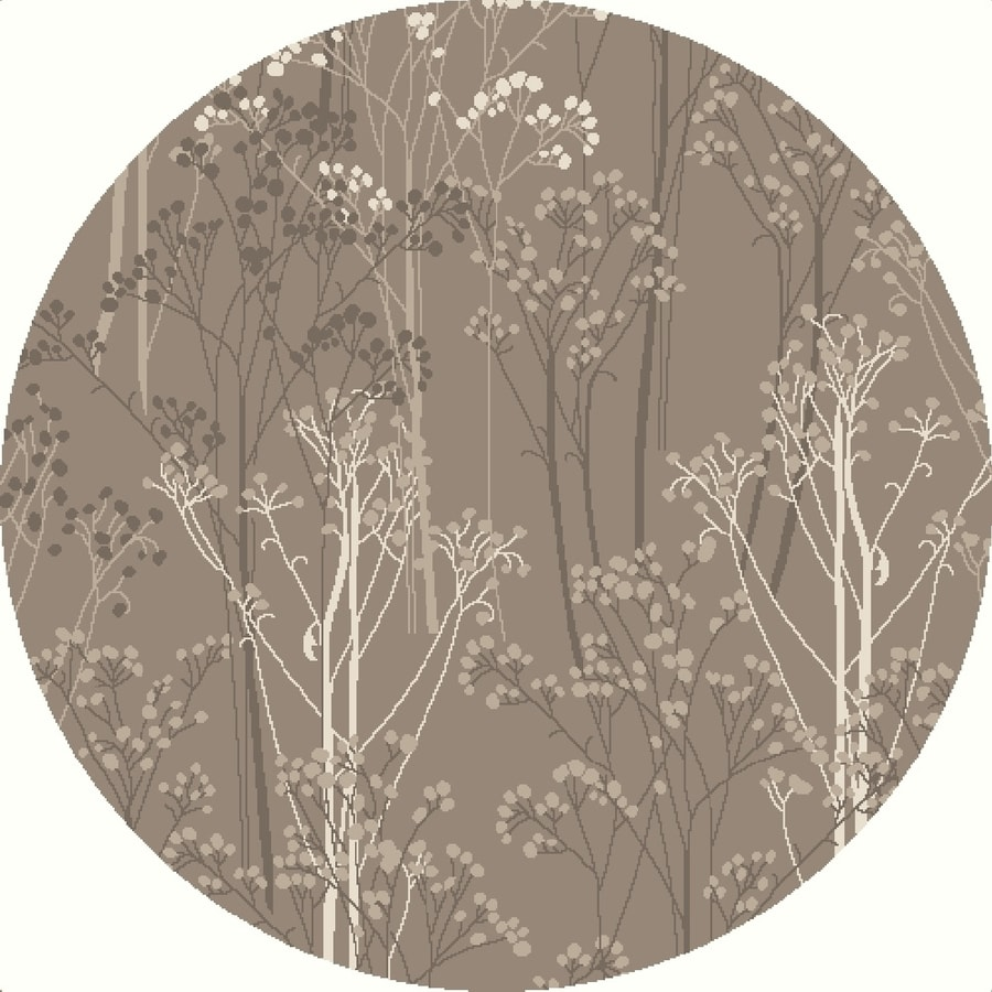 Concord Global Manhattan Taupe Round Indoor Machine-made Nature Area Rug (Common: 8 x 8; Actual: 7.83-ft W x 7.83-ft L x 7.83-ft Dia)