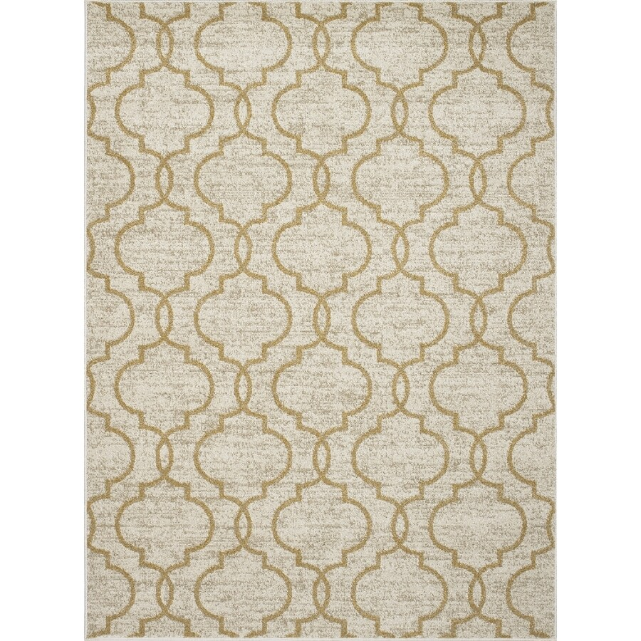Concord Global Manhattan Yellow Rectangular Indoor Woven Throw Rug (Common: 3 x 4; Actual: 2.58-ft W x 4.08-ft L x 2.58-ft Dia)