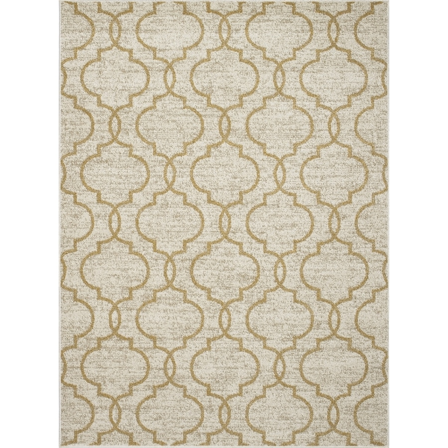 Concord Global Manhattan Yellow Rectangular Indoor Machine-Made Area Rug (Common: 8 x 11; Actual: 7.83-ft W x 10.5-ft L x 7.83-ft Dia)