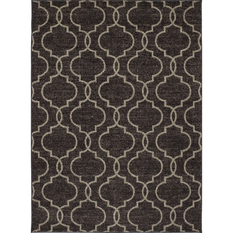 Concord Global Manhattan Brown Rectangular Indoor Machine-Made Area Rug (Common: 3 x 5; Actual: 3.25-ft W x 4.58-ft L x 3.25-ft Dia)