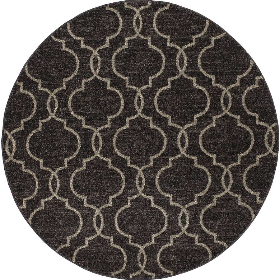 Concord Global Manhattan Brown Round Indoor Woven Area Rug (Common: 8 x 8; Actual: 7.83-ft W x 7.83-ft L x 7.83-ft Dia)