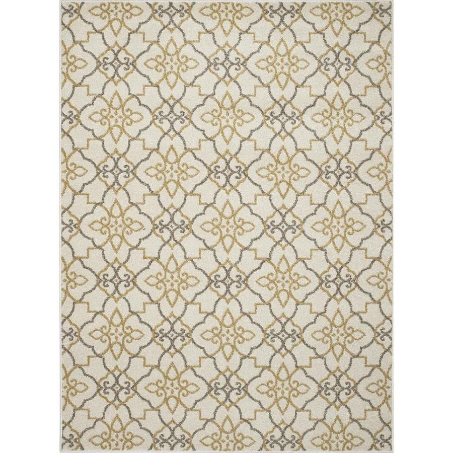 Concord Global Manhattan Ivory Rectangular Indoor Woven Area Rug (Common: 3 x 5; Actual: 3.25-ft W x 4.58-ft L x 3.25-ft Dia)