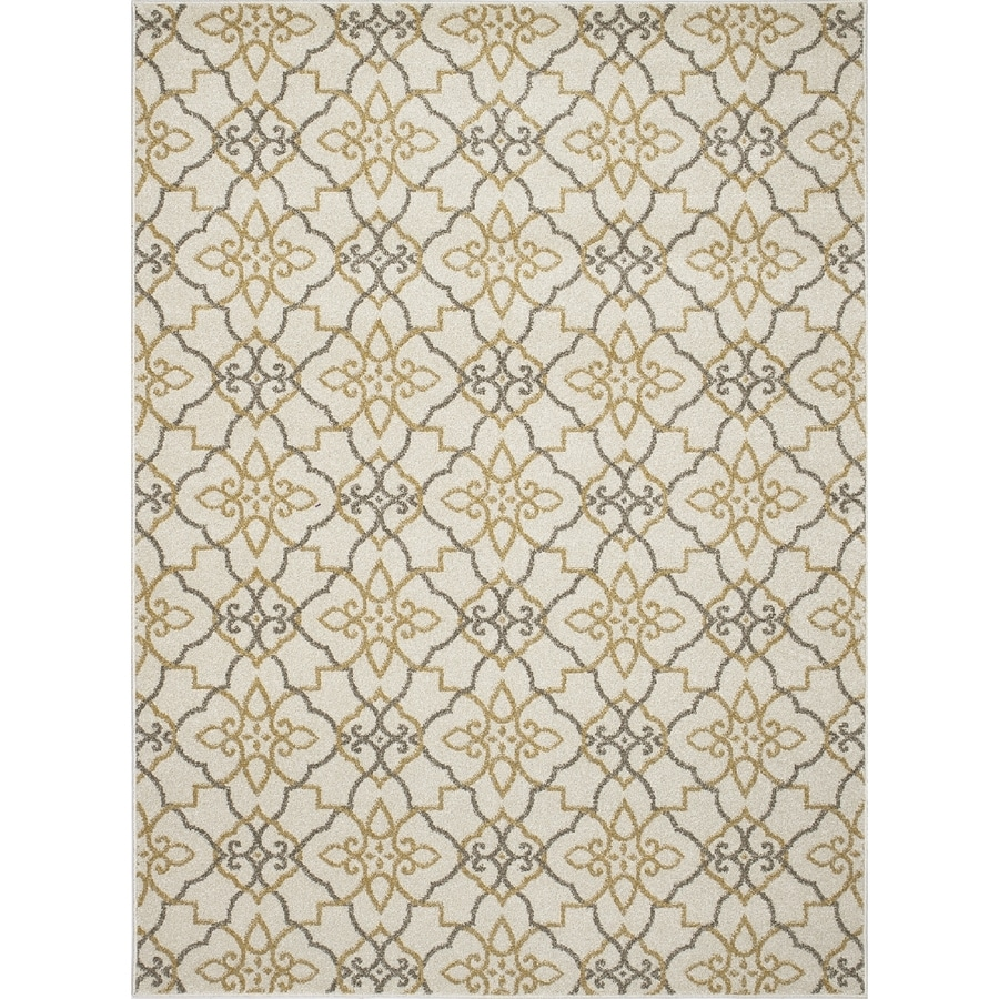 Concord Global Manhattan Ivory Rectangular Indoor Machine-made Area Rug (Common: 8 x 11; Actual: 7.83-ft W x 10.5-ft L x 7.83-ft Dia)