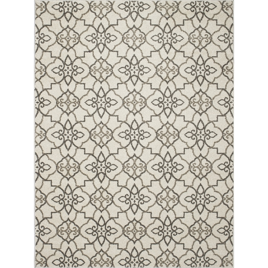 Concord Global Manhattan Gray Rectangular Indoor Woven Area Rug (Common: 7 x 10; Actual: 6.58-ft W x 9.5-ft L x 6.58-ft Dia)
