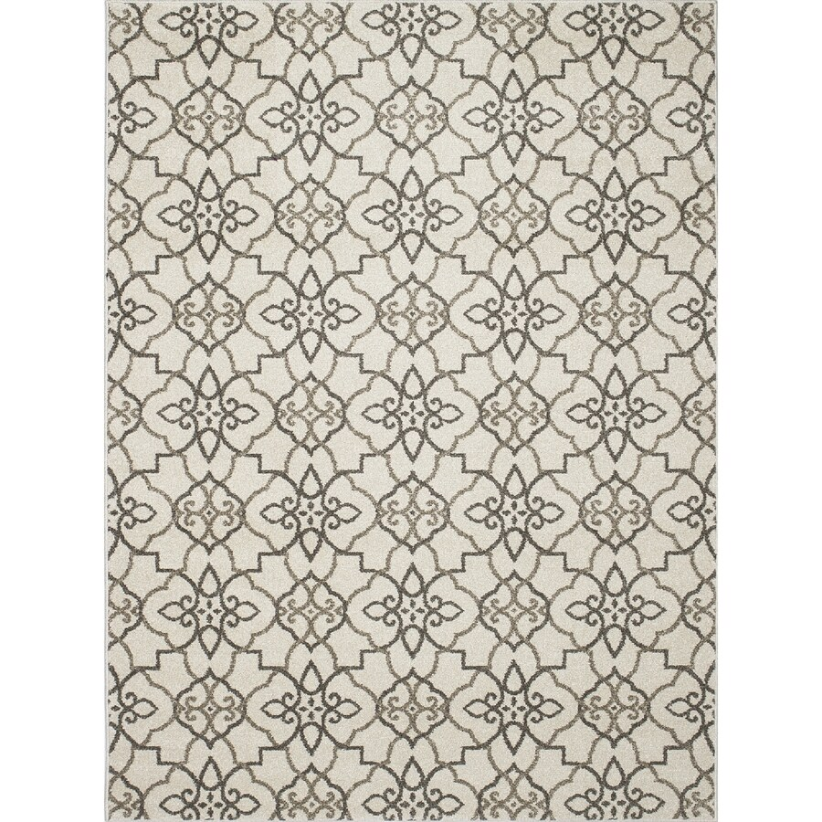 Concord Global Manhattan Gray Rectangular Indoor Woven Area Rug (Common: 8 x 11; Actual: 94-in W x 126-in L x 7.83-ft Dia)