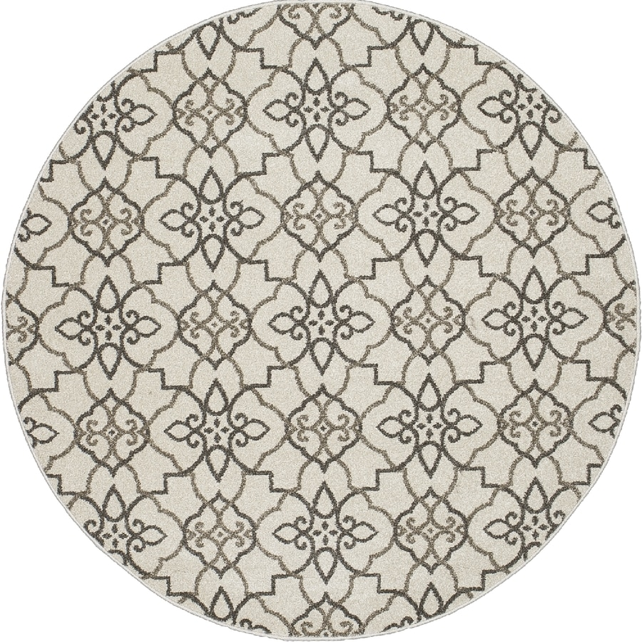 Concord Global Manhattan Gray Round Indoor Woven Area Rug (Common: 8 x 8; Actual: 94-in W x 94-in L x 7.83-ft Dia)