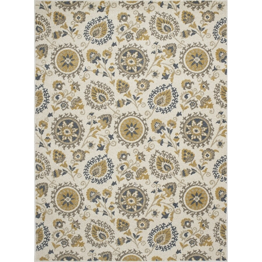 Concord Global Manhattan Ivory Rectangular Indoor Woven Nature Area Rug (Common: 5 x 7; Actual: 63-in W x 87-in L x 5.25-ft Dia)