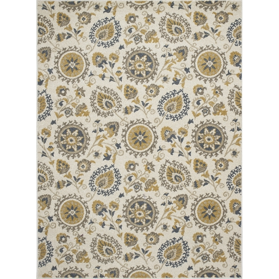 Concord Global Manhattan Ivory Rectangular Indoor Woven Nature Area Rug (Common: 8 x 11; Actual: 7.83-ft W x 10.5-ft L x 7.83-ft Dia)