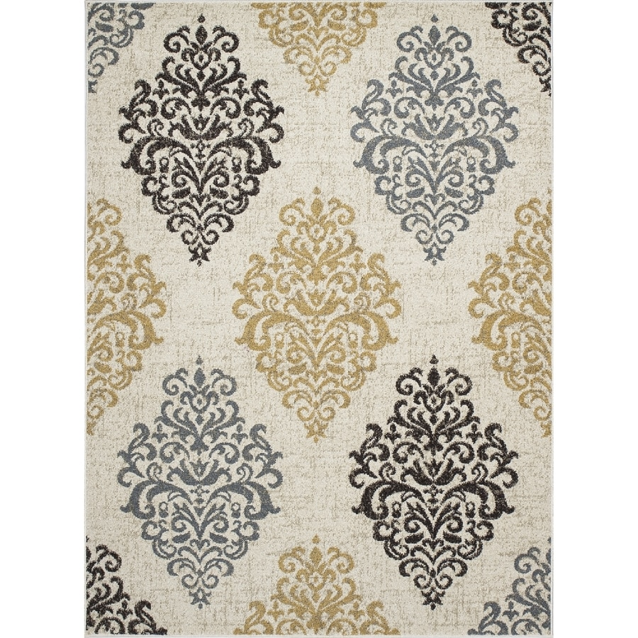 Concord Global Manhattan Ivory Rectangular Indoor Woven Area Rug (Common: 3 x 5; Actual: 39-in W x 55-in L x 3.25-ft Dia)