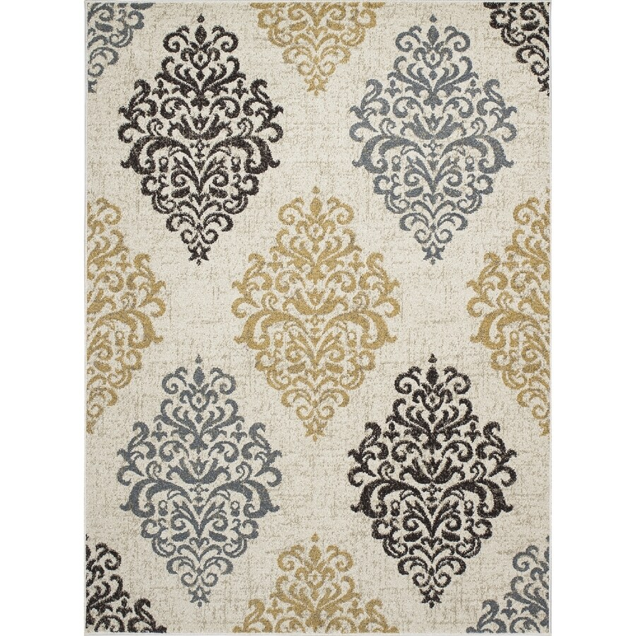 Concord Global Manhattan Ivory Rectangular Indoor Woven Area Rug (Common: 5 x 7; Actual: 5.25-ft W x 7.25-ft L x 5.25-ft Dia)