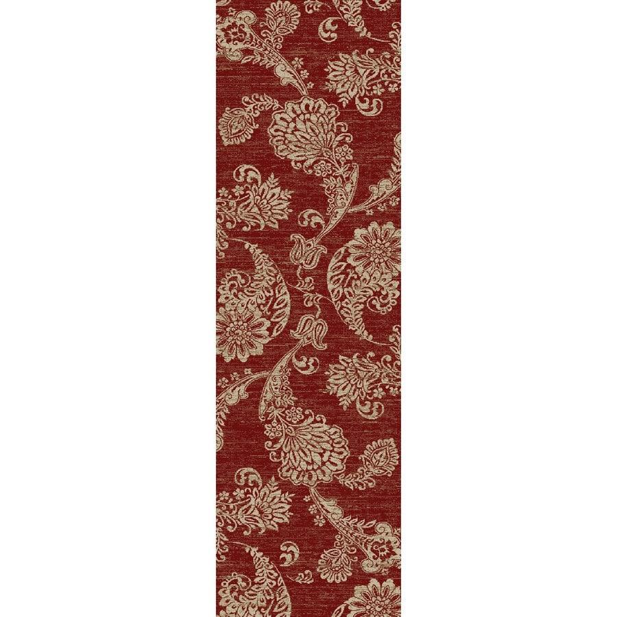 Concord Global Kensington Red Rectangular Indoor Woven Nature Runner (Common: 2 x 7; Actual: 26-in W x 87-in L x 2.17-ft Dia)