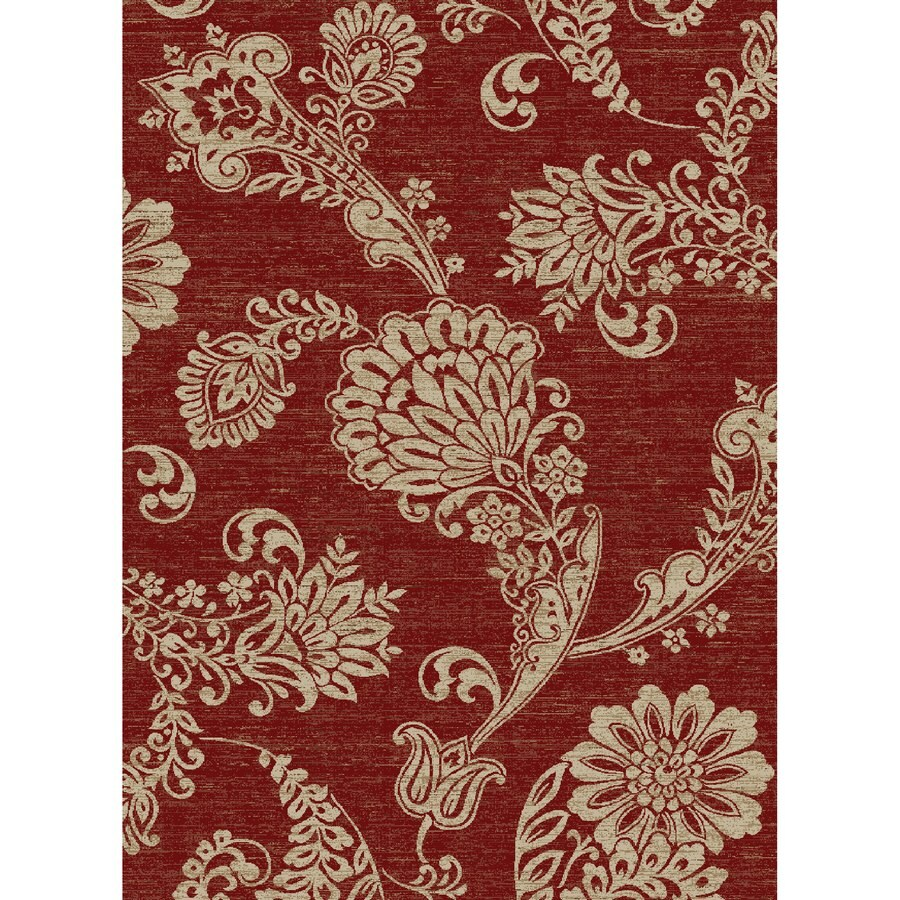 Concord Global Kensington Red Rectangular Indoor Woven Nature Area Rug (Common: 5 x 7; Actual: 63-in W x 87-in L x 5.25-ft Dia)