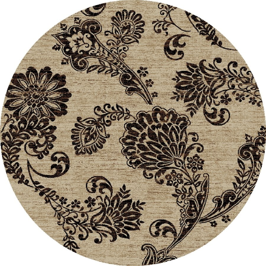 Concord Global Kensington Ivory Round Indoor Woven Nature Area Rug (Common: 5 x 5; Actual: 63-in W x 63-in L x 5.25-ft Dia)
