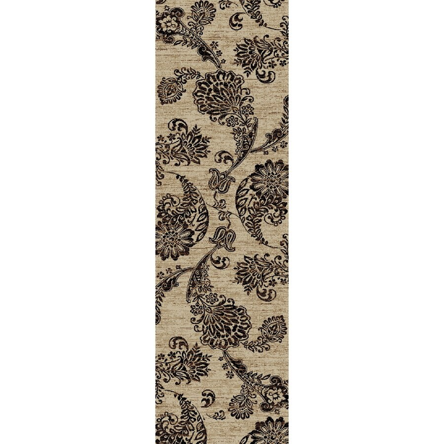 Concord Global Kensington Ivory Rectangular Indoor Woven Nature Runner (Common: 2 x 7; Actual: 26-in W x 87-in L x 2.17-ft Dia)