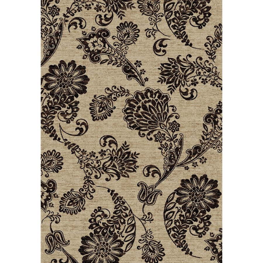 Concord Global Kensington Ivory Rectangular Indoor Woven Nature Area Rug (Common: 7 x 10; Actual: 79-in W x 114-in L x 6.58-ft Dia)