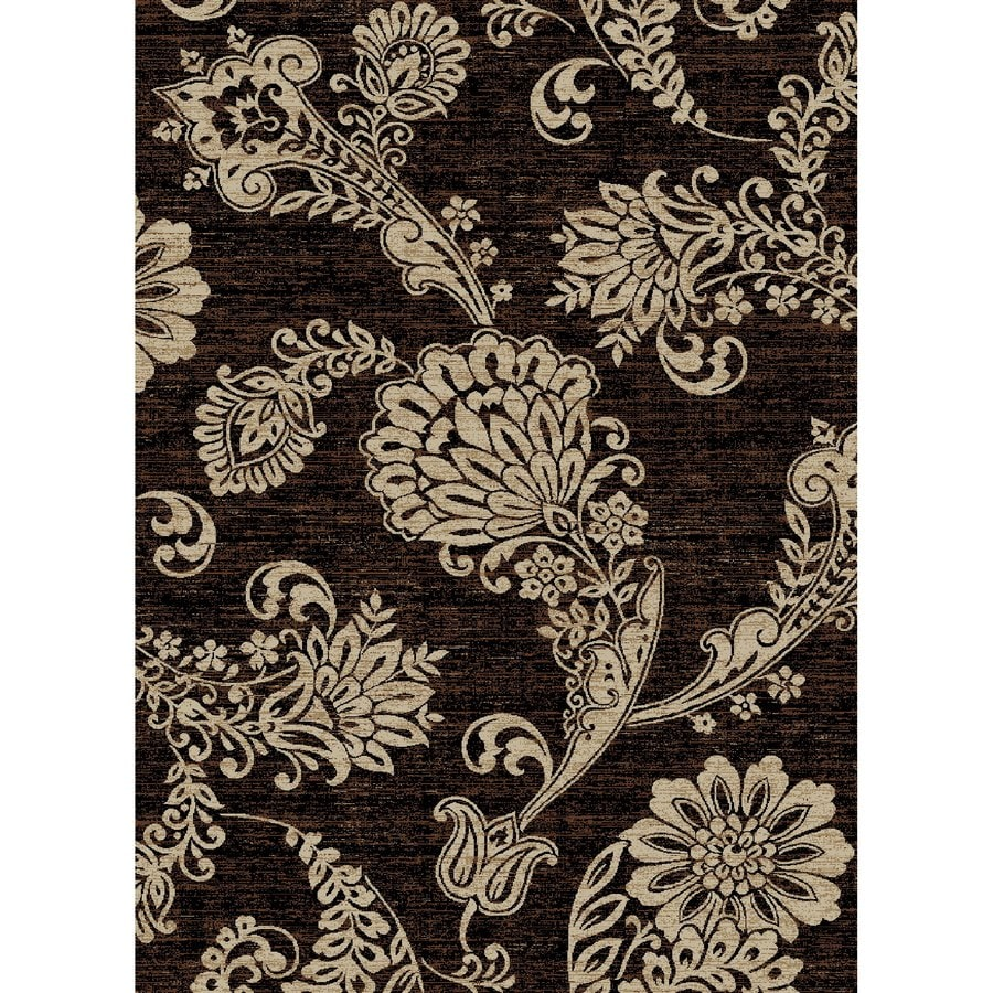 Concord Global Kensington Black Rectangular Indoor Woven Nature Area Rug (Common: 5 x 7; Actual: 63-in W x 87-in L x 5.25-ft Dia)
