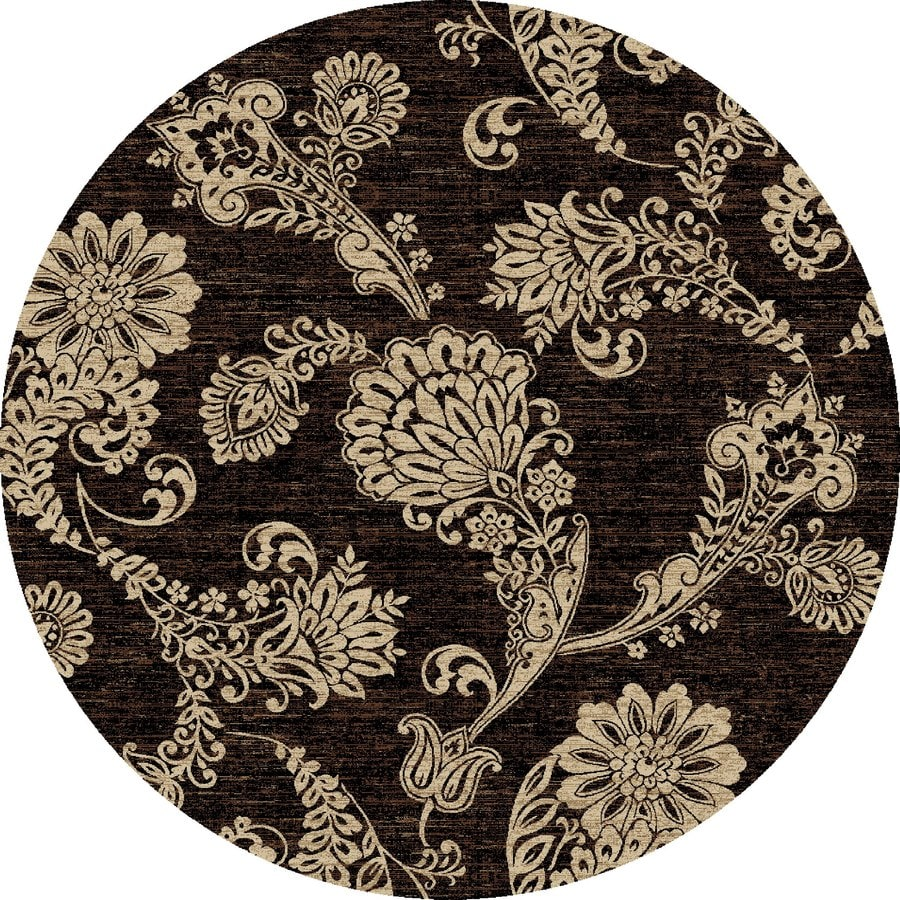 Concord Global Kensington Black Round Indoor Woven Nature Area Rug (Common: 8 x 8; Actual: 94-in W x 94-in L x 7.83-ft Dia)