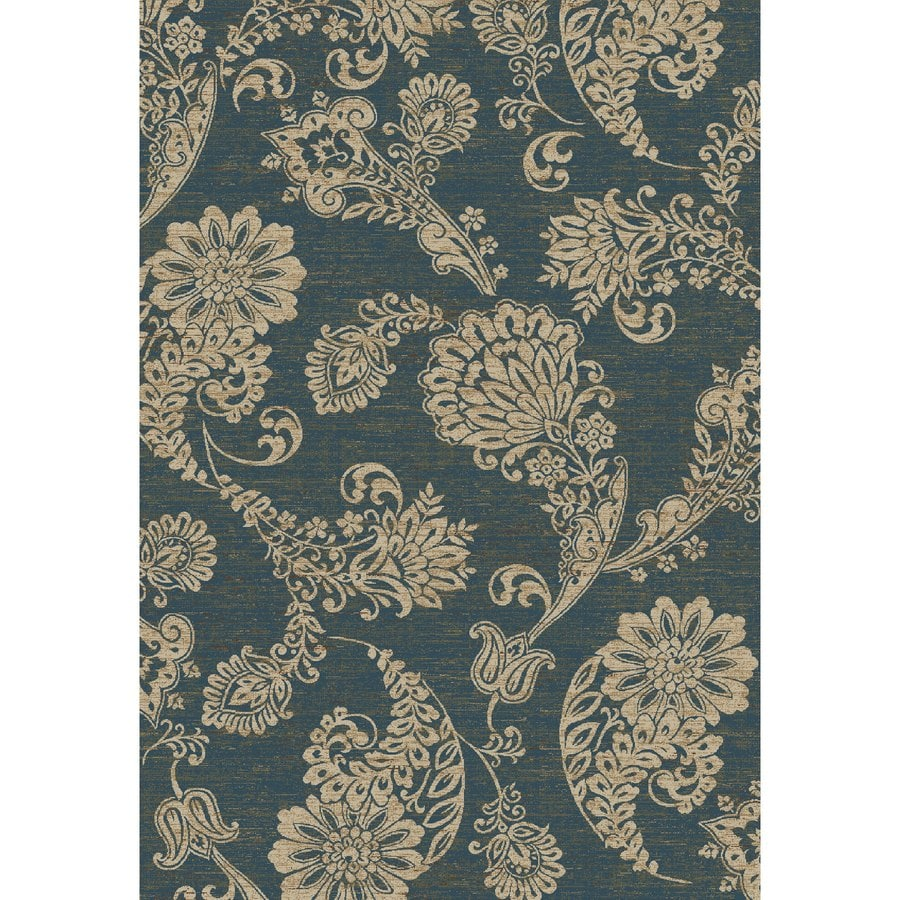 Concord Global Kensington Blue Rectangular Indoor Woven Nature Area Rug (Common: 7 x 10; Actual: 79-in W x 114-in L x 6.58-ft Dia)