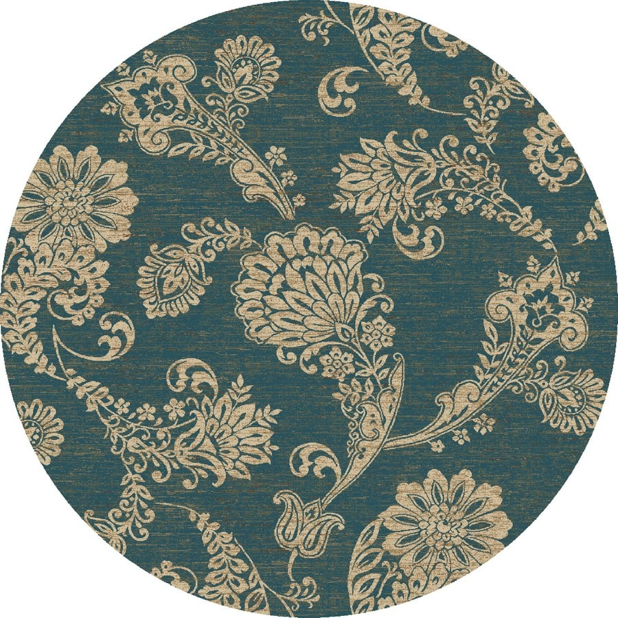 Concord Global Kensington Blue Round Indoor Woven Nature Area Rug (Common: 8 x 8; Actual: 94-in W x 94-in L x 7.83-ft Dia)