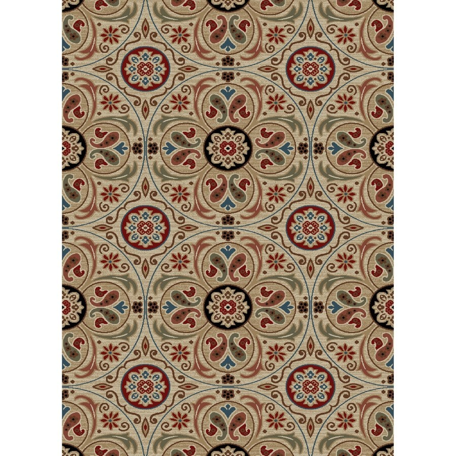 Concord Global Kensington Ivory Rectangular Indoor Woven Nature Area Rug (Common: 5 x 7; Actual: 63-in W x 87-in L x 5.25-ft Dia)
